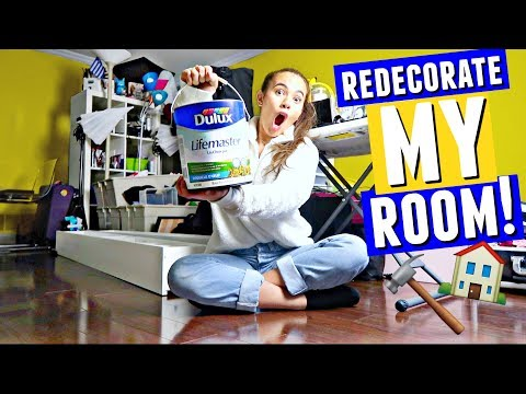 REDECORATE MY ROOM WITH ME!! 🏠🔨 (New...