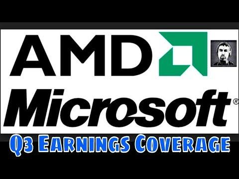 💻AMD & Microsoft (MSFT) 📈Live Q3 Earnings Coverage