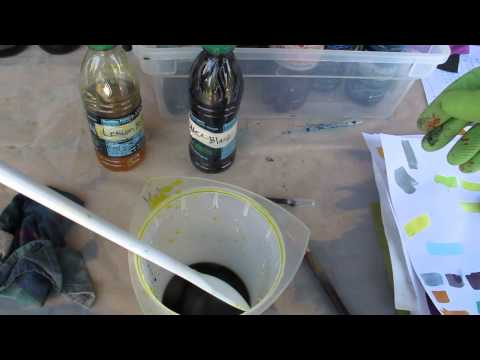 Dyeing Fabric - Color Mixing Demo