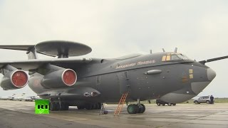 New super advanced Russian AWACS plane Beriev A-50U (Raw footage)