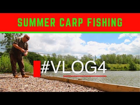 CARP FISHING IN SUMMER COTTINGTON DAY TICKET LAKES