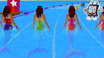 MEERJUNGFRAUEN RENNEN App deutsch | WER IST DIE SCHNELLSTE? Mermaid Race 2016