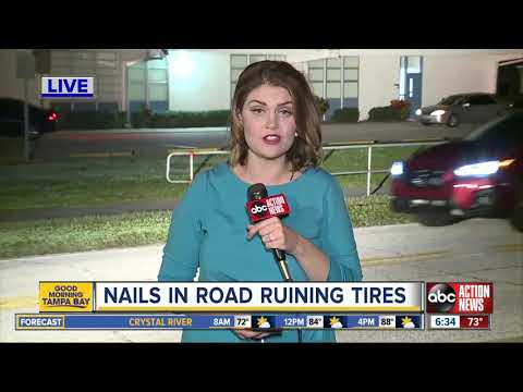 Mychal Maguire - Nails Are Being Dumped By Tampa Elementary School Causing Tire Damage