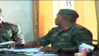 gambian national army chief ousman badjie and deputy chief general yangkuba drammeh on a press confe