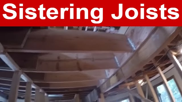 Shoring Up A Floor : Vlog sistering joists youtube