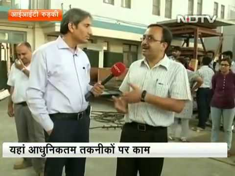 NDTV Prime Time show  on Earthquake Literacy by Ravish Kumar at IIT Roorkee