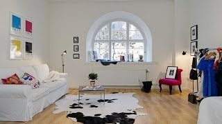 Color, Simplicity And Function In A Small Scandinavian Crib
