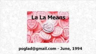 La La Means I Love You (Instrumental)