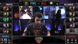 Fnatic vs Alliance | S4 EU LCS Summer 2014 Week 10 Day 1 | FNC vs ALL W10D1 G3 Full Game HD