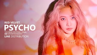 Download lagu RED VELVET 레드벨벳 PSYCHO Line Distribution