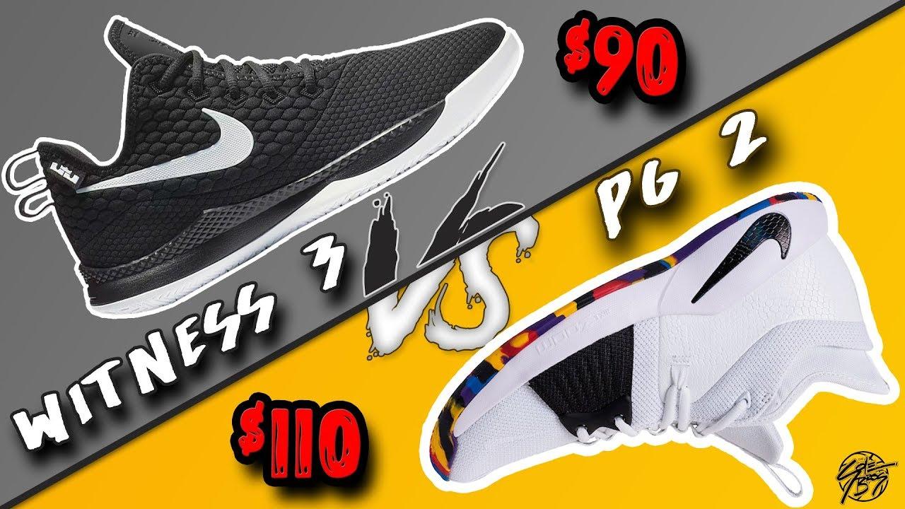 Nike Lebron Witness 3 vs PG 2! - YouTube 1d97a7da865