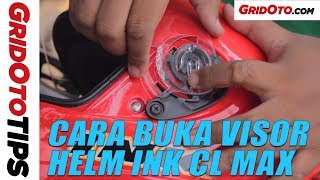 Cara Buka Visor Helm INK CL Max | How To | GridOto Tips