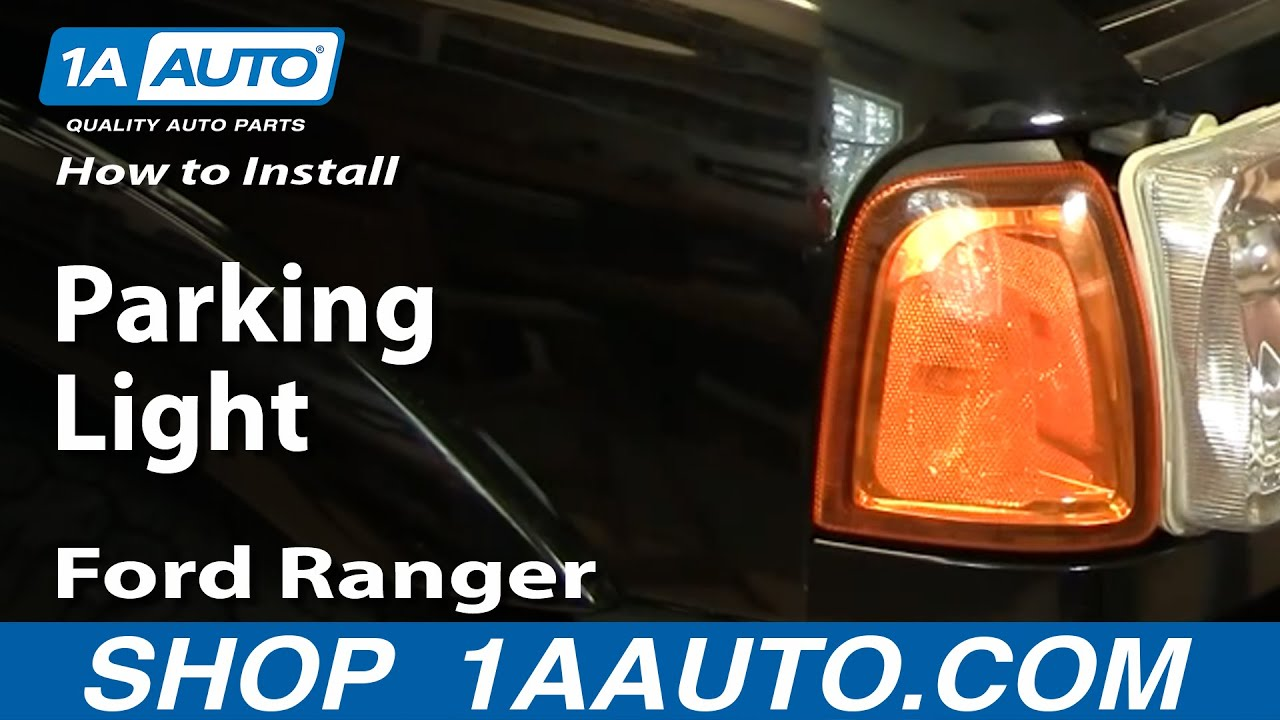 How To Replace Corner Light 01 05 Ford Ranger