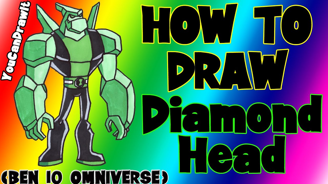 Download How To Draw Diamondhead from Ben 10 Omnivewrse ✎ YouCanDrawIt ツ 1080p HD