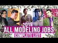 All Modeling Jobs - 2019 Complete List
