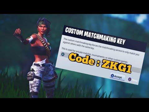 fortnite custom matchmaking keys list