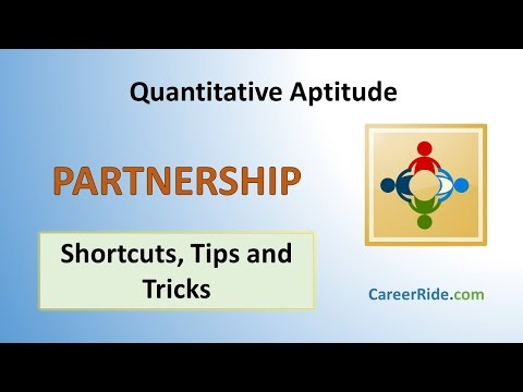 Partnership - Shortcuts & Tricks for Placement Tests, Job Interviews & Exams