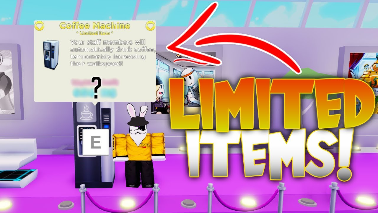 Using The LIMITED ITEMS On My Restaurant Roblox!