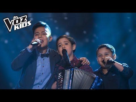 Carlitos, Juanjo y Jhaner cantan Amor Sensible – Batallas   La Voz Kids Colombia 2018