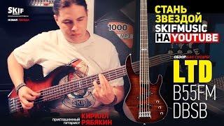 Обзор Бас-гитары LTD B55FMDBSB 5 струн l SKIFMUSIC.RU