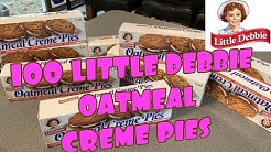 100 LITTLE DEBBIE OATMEAL CREME PIES   17,000 CALORIES   CHEAT DAY SNACKING   CHILDHOOD FAVORITES 🍪