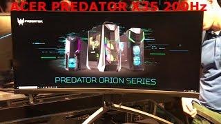 Acer Predator X35 200hz 21:9 curved test ufo