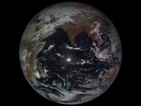 One month of Earth from geostationary weather satellite
