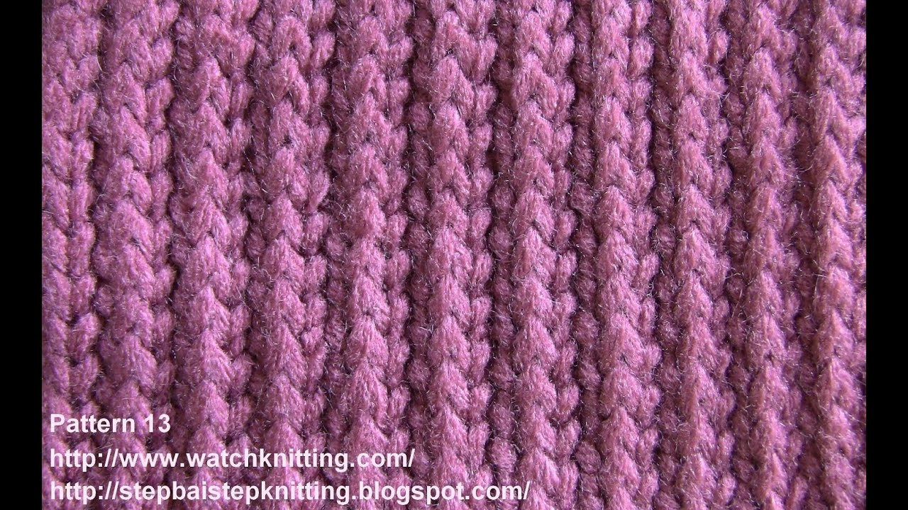 Free Knitting Stitches Patterns For Beginners : (stripe stitch) - Free Knitting Tutorial - Watch Knitting - pattern 13 - YouTube