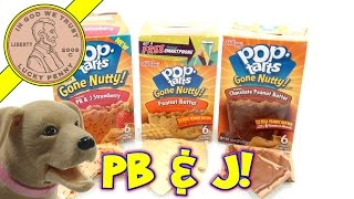 Kellogg's Pop-tarts Gone Nutty Peanut Butter Strawberry & Chocolate - 3 Tasty Flavors!