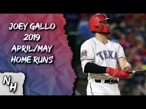 Joey Gallo 2019 April/May Home Runs