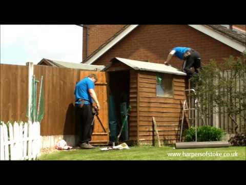 shed roof re felting youtube. Black Bedroom Furniture Sets. Home Design Ideas