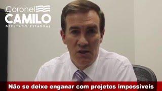 Coronel Camilo esclarece parecer contrário a um projeto demagógico