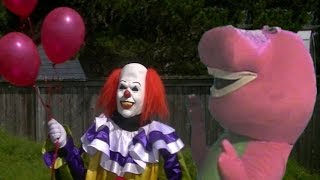 Pennywise The Dancing Clown Vs Barney The Dinosaur