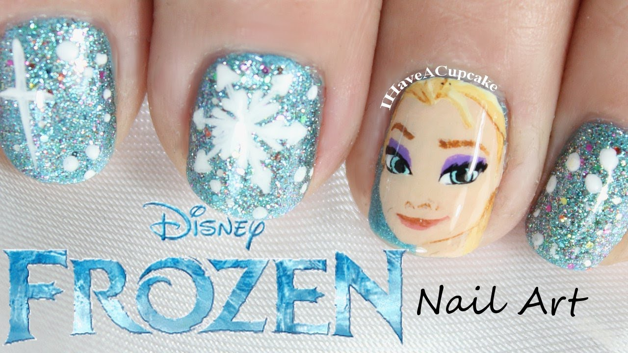 frozen nail art elsa youtube