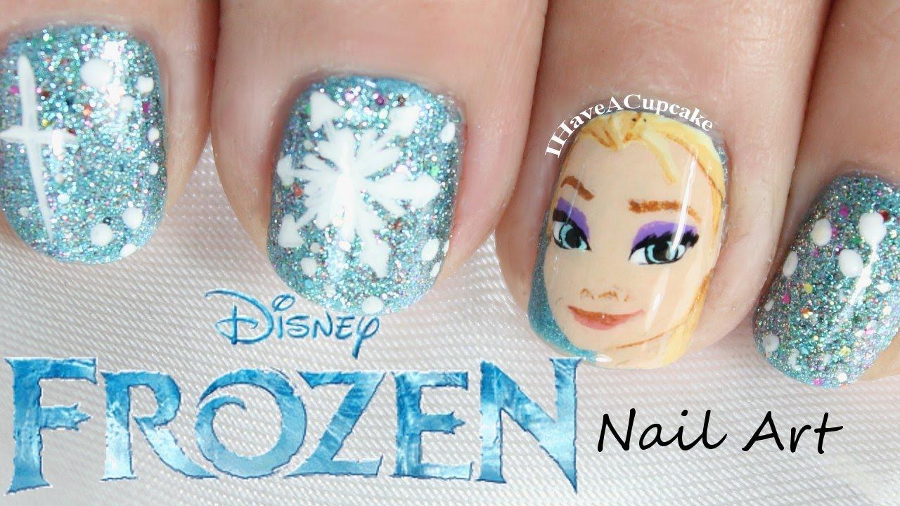 Frozen Nail Art - Elsa - YouTube