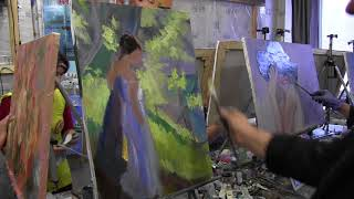 Мастер-класс Игоря Сахарова в Москве, уроки для начинающих, масляная живопись