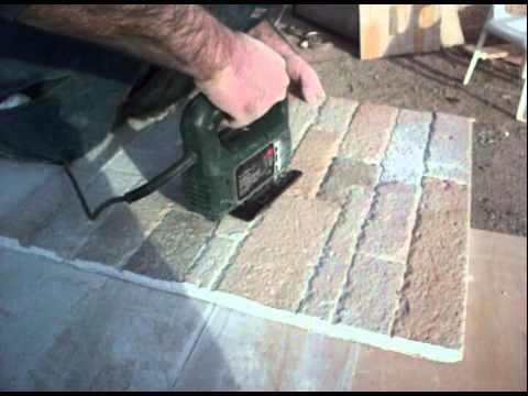 pannelli di pietra ricostruita : montaggio. - YouTube