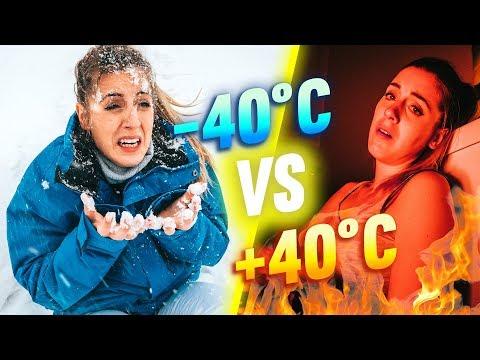 SURVIVRE À -40°C VS SURVIVRE À +40°C - 24H CHALLENGE   DENYZEE