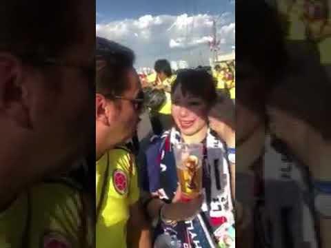 コロンビアサポーターが日本人女性に侮辱発言 FIFAワールドカップ2018 日本対コロンビア戦
