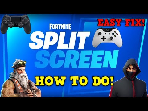 Fortnite: How To Do Split Screen PS4 & XBOX!!! - EASY!!!