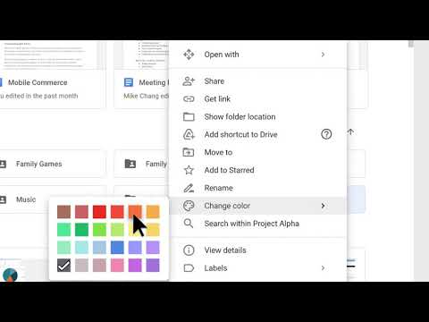 How to: Change Folder Color in Google Drive