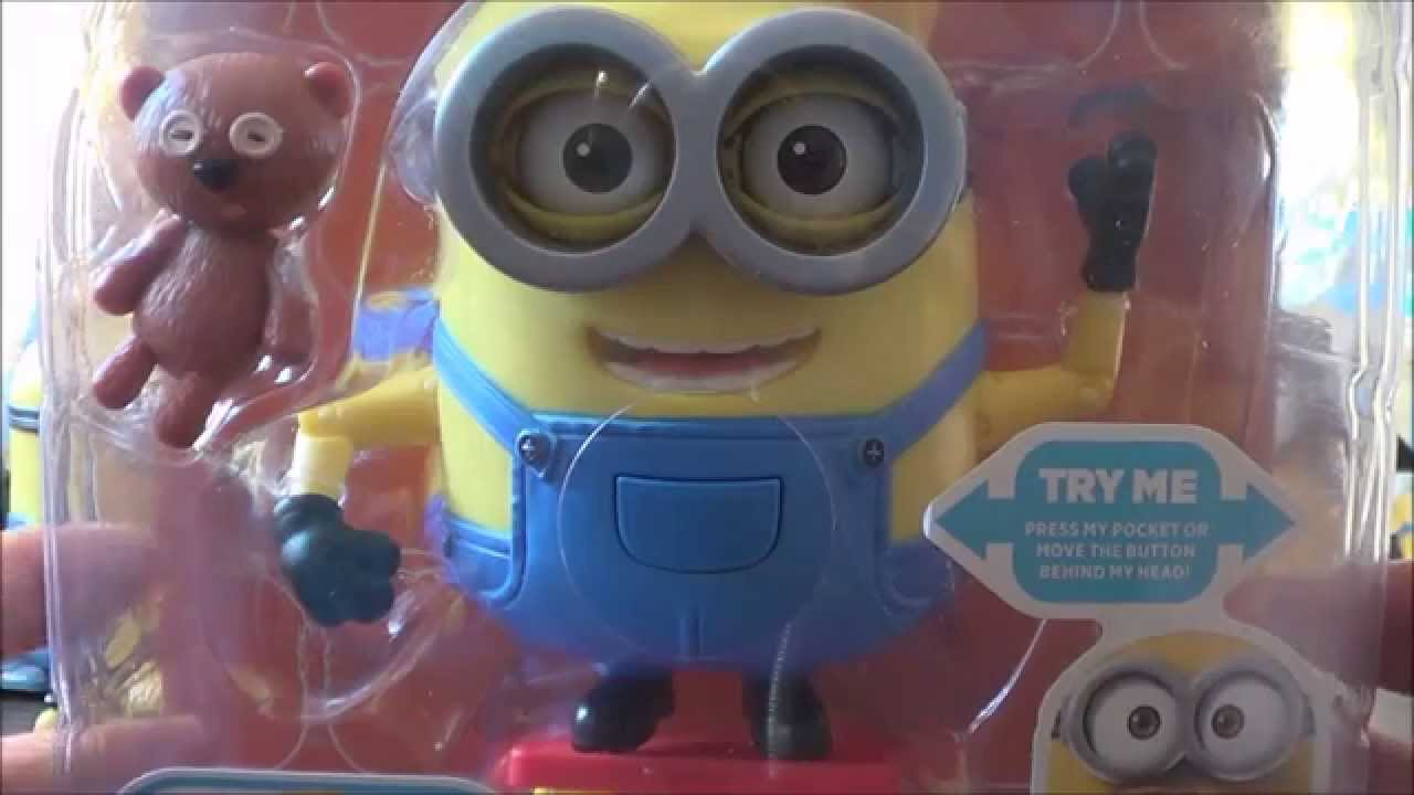 Minions 2015 Deluxe Action Figure Unboxing Baby Bob With Teddy Bear