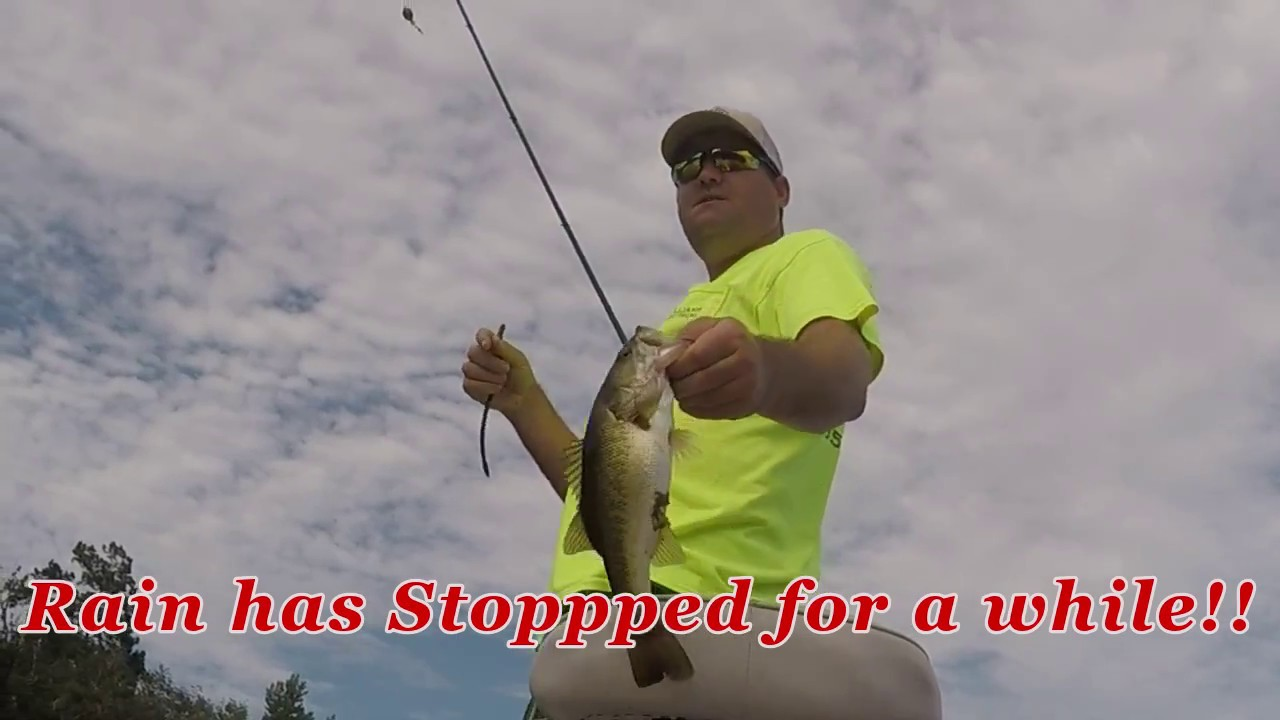 Do bass bite in the rain been tough lately anytime so let for Bass fishing in the rain