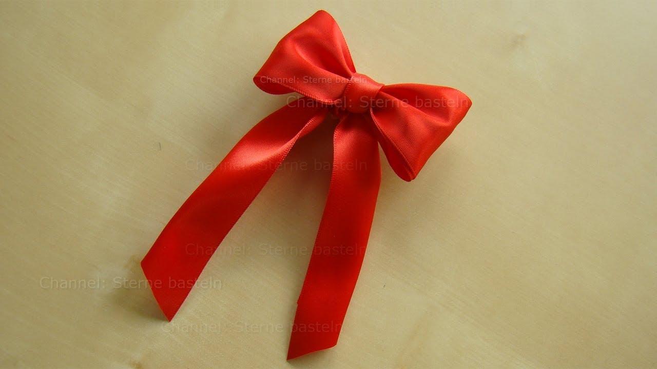Schleife binden zum geschenke f r weihnachten verpacken dekoriern diy geschenkschleife - Schleife binden youtube ...