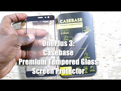 finest selection 682cd 8d698 OnePlus 3: Casebase Premium Tempered Glass Screen Protector (Full ...