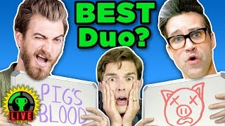 GMM vs GTLive! | The Newlywed Game ft. Rhett and Link (Game Theory Charity Livestream)