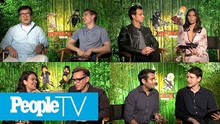 Jackie Chan, Dave Franco, Olivia Munn & 'LEGO Ninjago Movie' Stars Answer Kids' Questions | PeopleTV