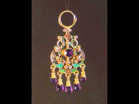 Эксклюзивные золотые серьги с бриллиантами Лунницы