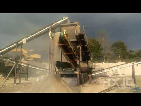 Wheel mobile impact crushing and screening plant is Now Working in Nigeria