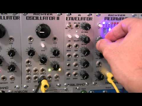 Modular Wild-Malekko Heavy Industry-Richter Megawave-Bank 7 Audio Rate Demo Part One
